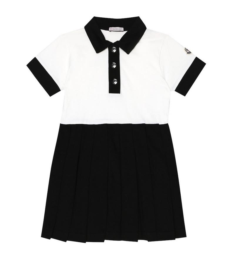 Moncler Enfant Stretch-cotton dress in white