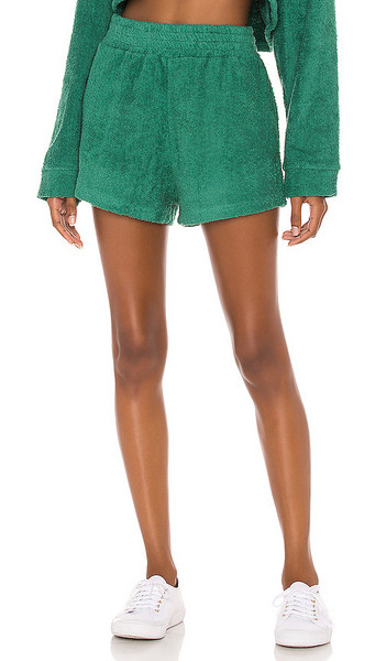The Bar Zi Short in Teal in green