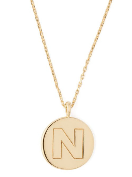 Theodora Warre - N Charm Gold Plated Necklace - Womens - Gold
