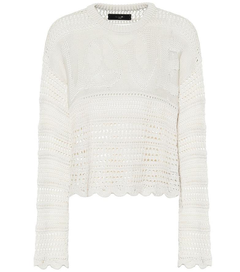 Amiri Love silk-blend sweater in white