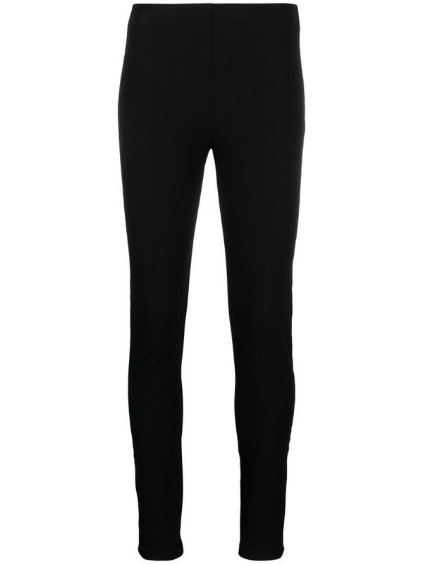 Joseph high-rise fitted leggings in black