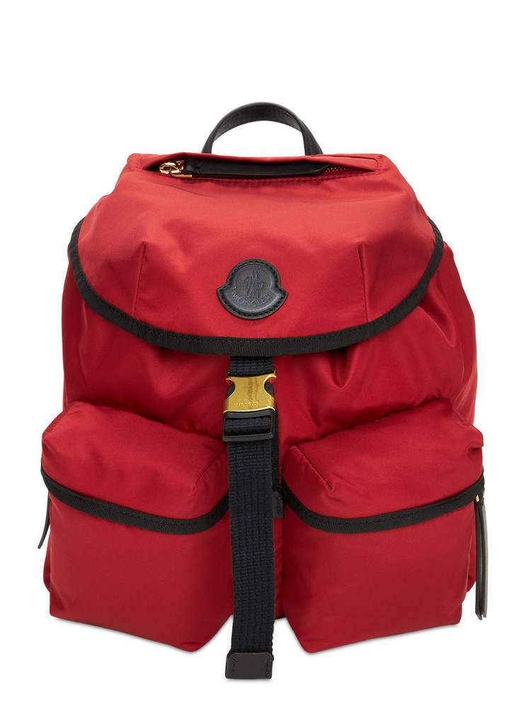 MONCLER Large Dauphine Nylon Backpack in red