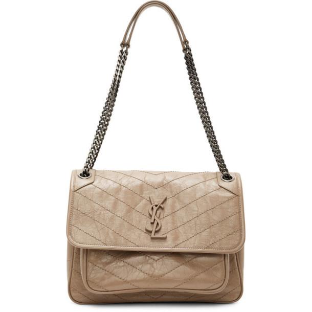 Saint Laurent Taupe Medium Niki Bag