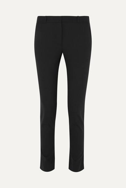THE ROW - Franklin Wool-blend Slim-leg Pants - Black