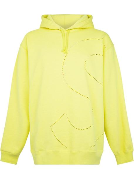 Supreme laser cut 'S' logo hoodie - Yellow