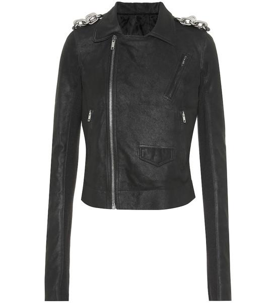 Rick Owens Stooges suede jacket in black