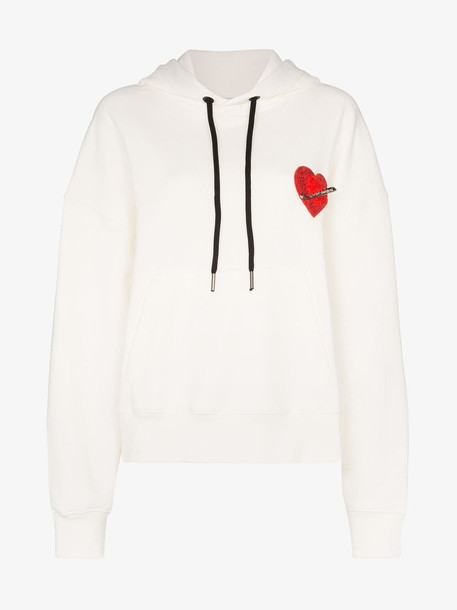 Palm Angels Pin My Heart hoodie in white