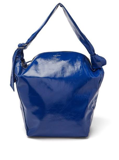 Isabel Marant - Eewa Patent Leather Shoulder Bag - Womens - Blue
