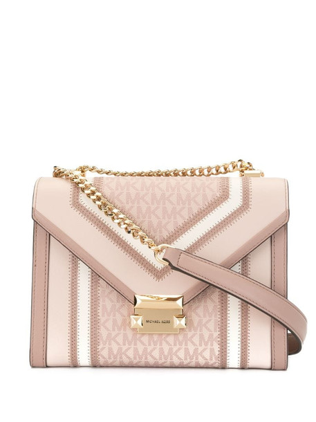 Michael Kors large Whitney logo convertible shoulder bag in pink