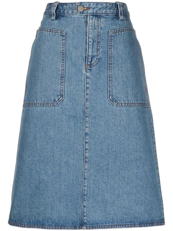A.P.C. A-line denim skirt in blue