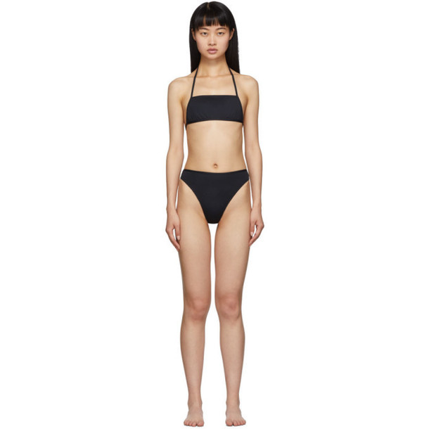 Rudi Gernreich Black The Original Thong Bikini