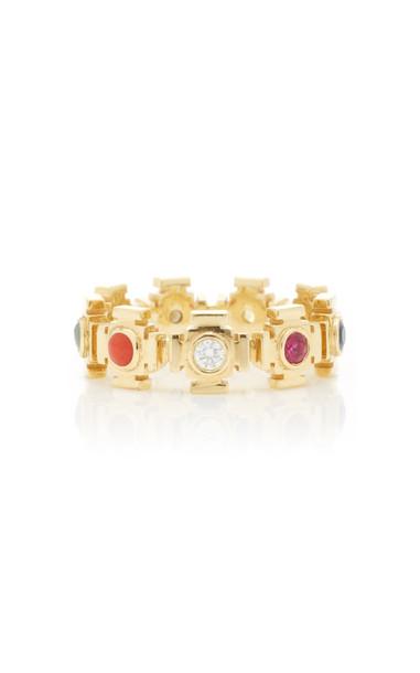 ARK Nine Planet Gateways 18K Gold Multi-Stone Ring Size: 6
