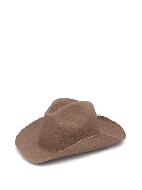 Reinhard Plank Hats - Boncia Cotton-straw Hat - Womens - Brown