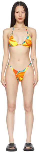 Louisa Ballou Yellow & Orange Mini Ring Bikini