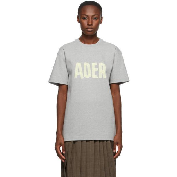 ADER error Grey Logo Masking T-Shirt in gray