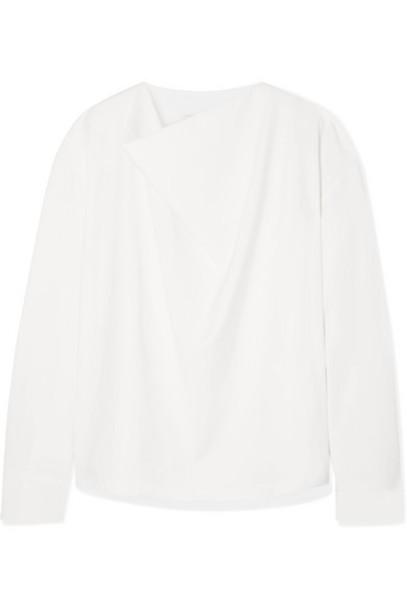 LE 17 SEPTEMBRE - Draped Woven Top - Ivory