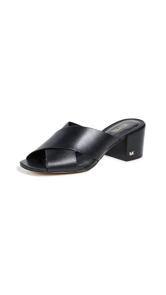 MICHAEL Michael Kors Abbott Crisscross Mules in black