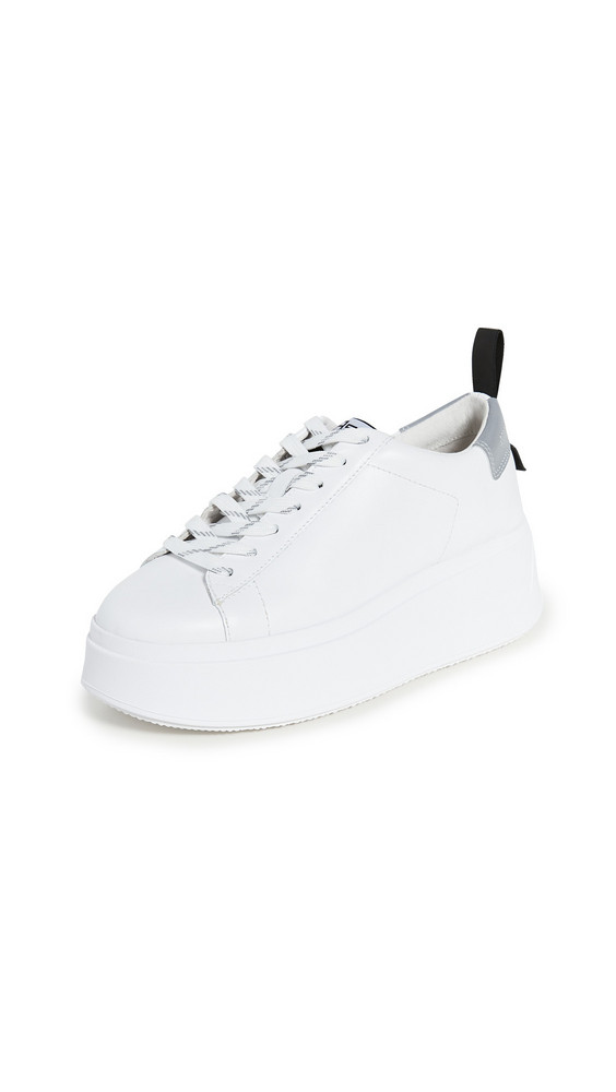 Ash Moon Sneakers in silver / white