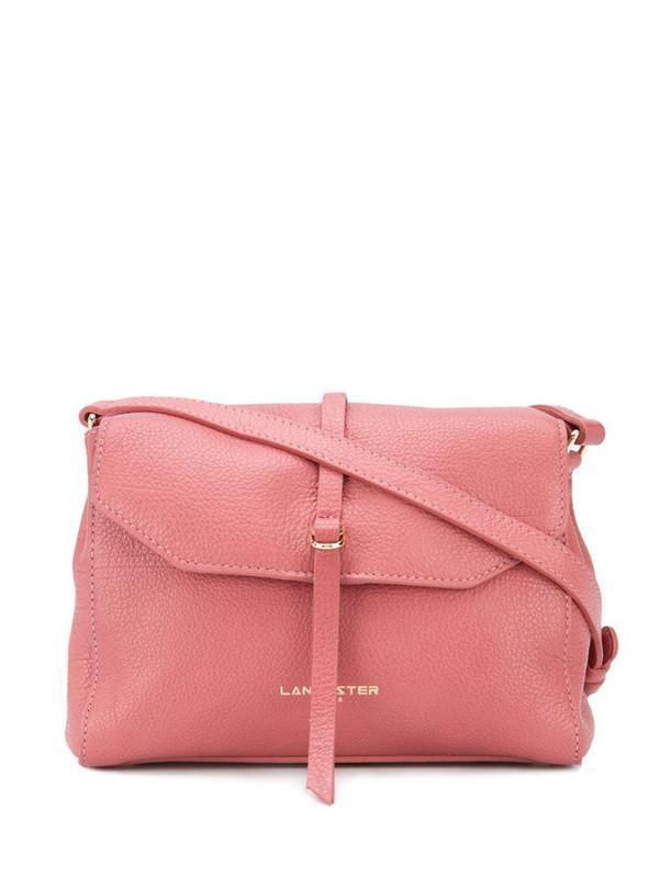 Lancaster foldover shoulder bag in pink