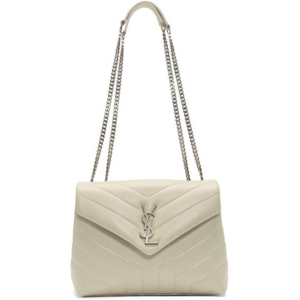 Saint Laurent White Small Loulou Bag
