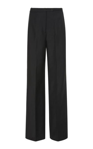 Jil Sander Wool And Mohair-Blend Wide-Leg Pants in black