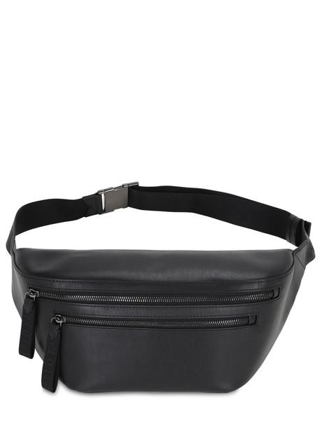 KARL LAGERFELD Karl X Carine Leather Belt Bag in black