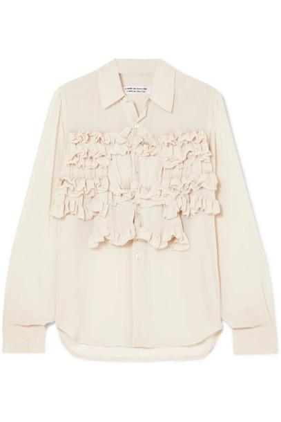 Comme des Garçons Comme des Garçons - Ruffled Georgette Shirt - Ecru