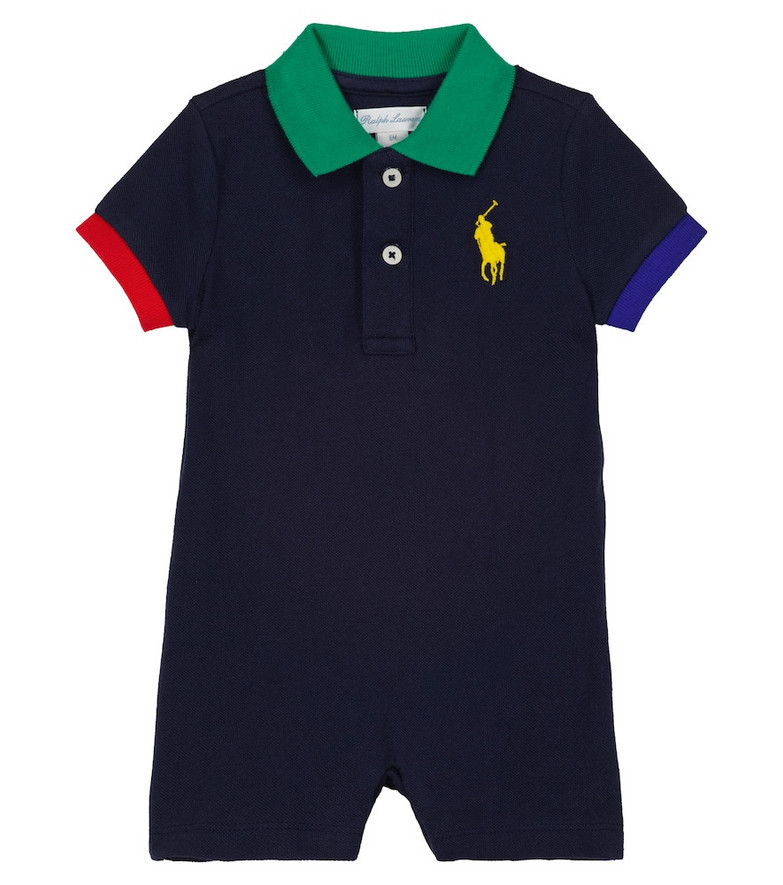 Polo Ralph Lauren Kids Cotton romper in blue