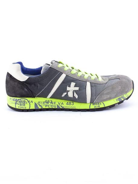 Premiata Lucy Sneaker In Grey Suede Upper