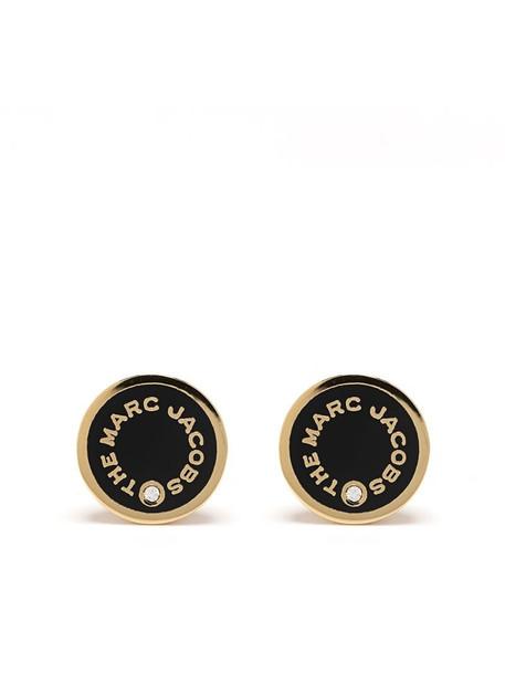 Marc Jacobs logo-print stud earrings in gold
