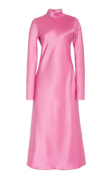 Nanushka Ashlee Crepe Turtleneck Dress in pink