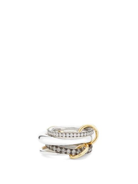 Spinelli Kilcollin - Cassini Diamond, Sterling Silver & 18kt Gold Ring - Womens - Black Multi