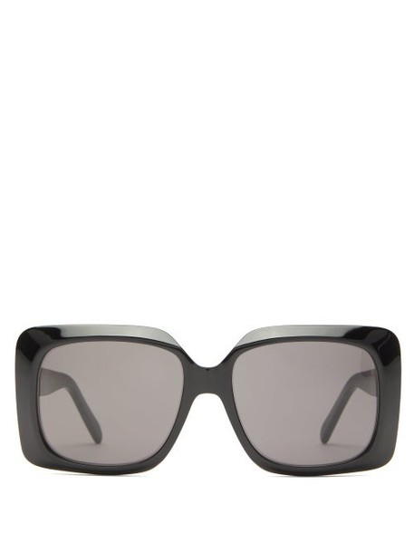 Celine Eyewear - Oversized Square Acetate Sunglasses - Womens - Black