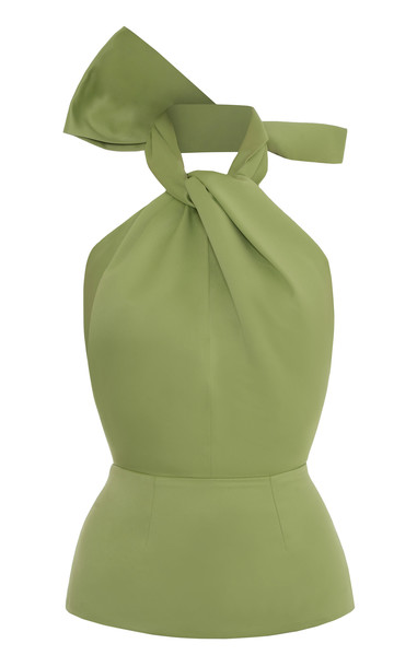 Lado Bokuchava Belted Halter Neck Top Size: XL in green
