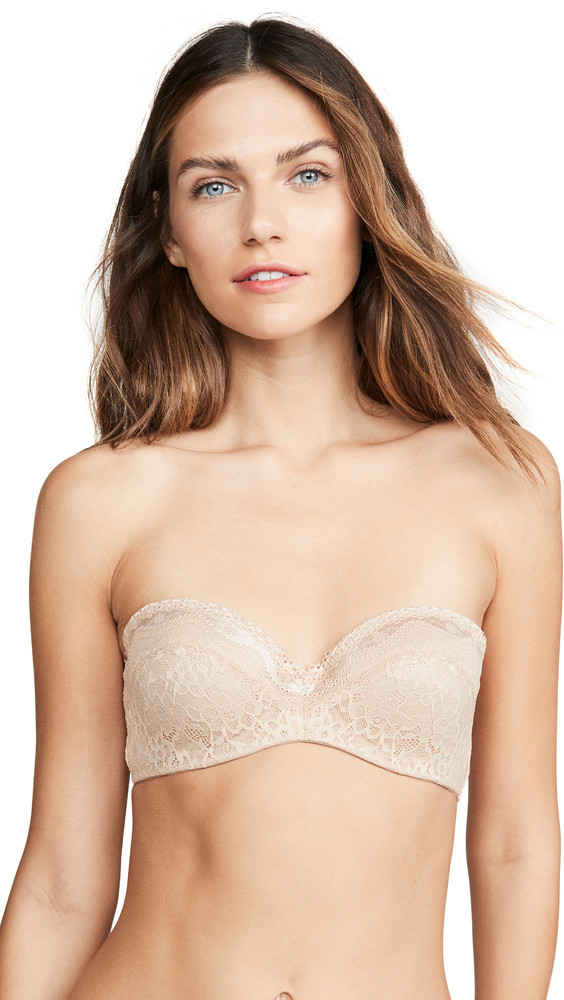 b.tempt'd by Wacoal B. Enticing Strapless Bra in natural