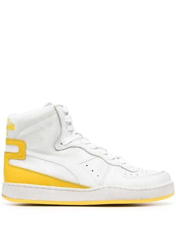 Diadora Bball high-top sneakers in white