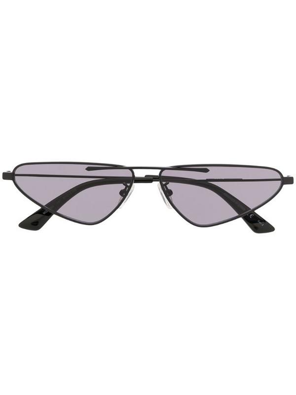 McQ Swallow narrow tinted sunglasses in black
