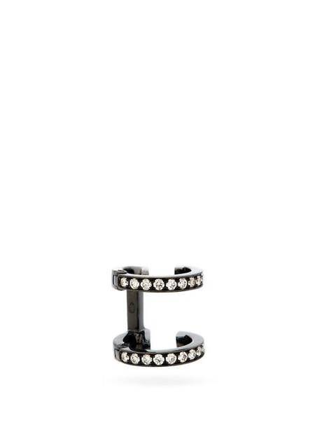 Repossi - Berbère Diamond & 18kt Black-gold Ear Cuff - Womens - Black Gold