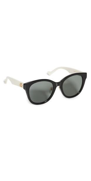 Gucci Oversized Round Sunglasses in black