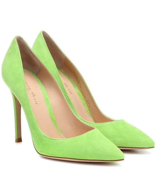 Gianvito Rossi Gianvito 105 suede pumps in green