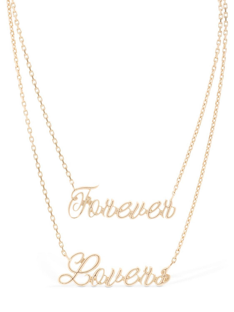 RED V Forever Lovers Multi Chain Necklace in gold