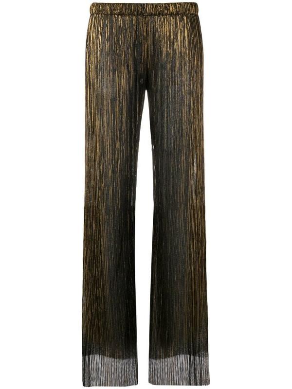 Fisico sheer straight-leg trousers in black