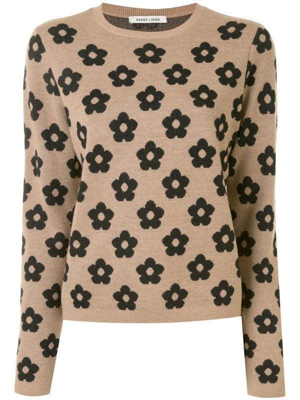 Sandy Liang Edith sweatshirt in brown