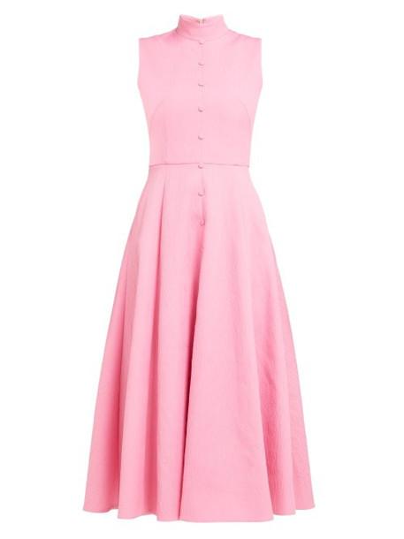 Emilia Wickstead - Sheila Panelled Cloqué Midi Dress - Womens - Pink