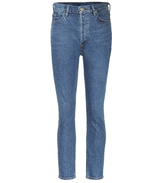 Goldsign The High-Rise slim-straight jeans in blue