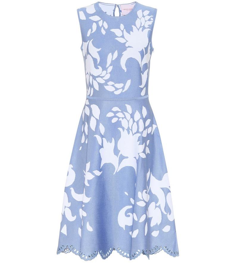 Carolina Herrera Printed midi dress in blue