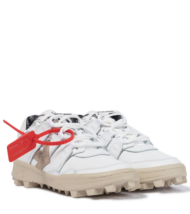 Off-White Mountain Cleats leather sneakers in white