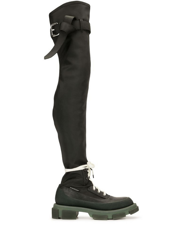 Monse Gao thigh-high boots in black