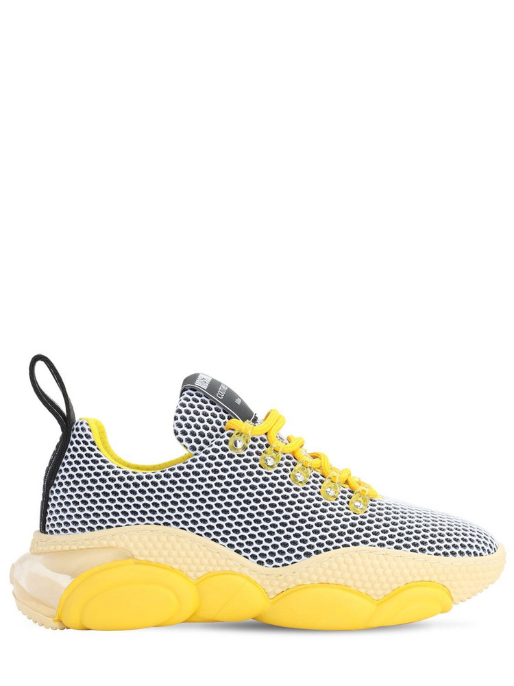MOSCHINO 30mm Teddy Bubble Low Top Sneakers in yellow