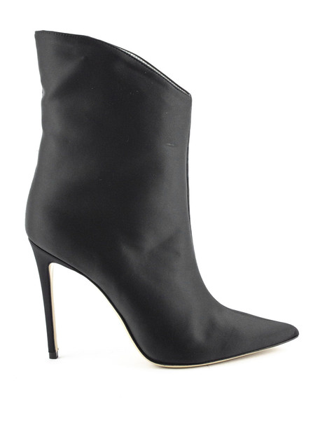 Aldo Castagna Pointed Ankle Boot In Black Leather